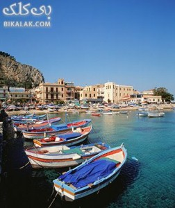 Boats and beach in Pelermo, Sicily