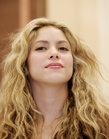 Shakira is seen on Capitol Hill